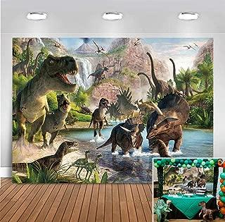 Jurassic World Dinosaur Park Decorations Backdrop Photography Children Birthday Party Banner Vinyl Tropical Jungle Safari Animals Baby Shower Photo Booth Studio Prop 5x3ft Photo Background Cake Table