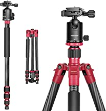 Neewer 66 inches/168 centimeters Carbon Fiber Camera Tripod Monopod with 360 Degree Ball Head, 1/4 inch Quick Shoe Plate a...