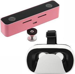 SvproカメラパノラマVR 3DアクションスポーツカメラHDビューアステレオカメラプロフェッショナルカムメガピクセルデュアルハードレンズ付きAndroid携帯電話用(キット、ピンク)
