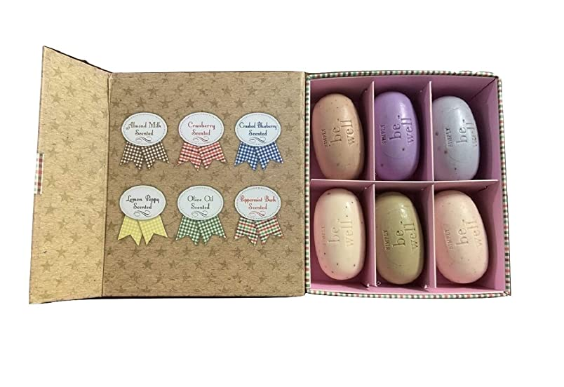 Simply Be Well Specialtyソープギフトセット(6-pc。サンプラーソープギフトボックス)