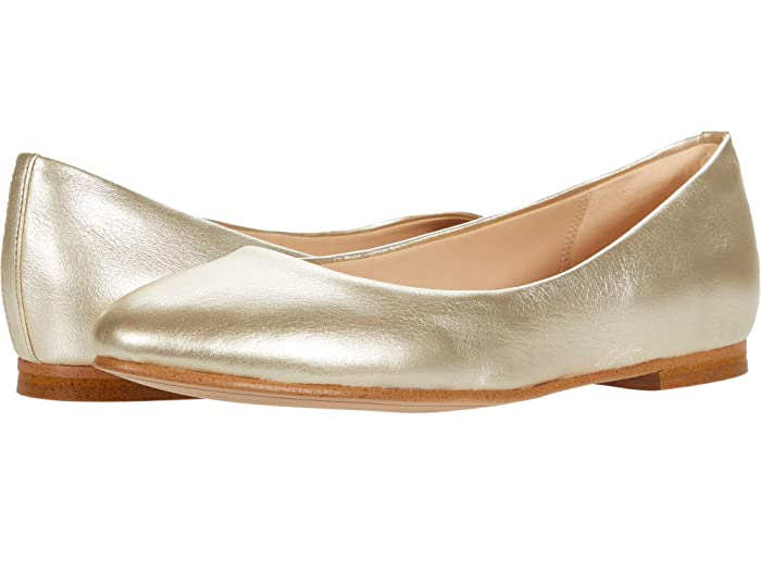 Retro Vintage Flats and Low Heel Shoes Clarks Grace Piper Gold Metallic Womens Shoes $69.93 AT vintagedancer.com