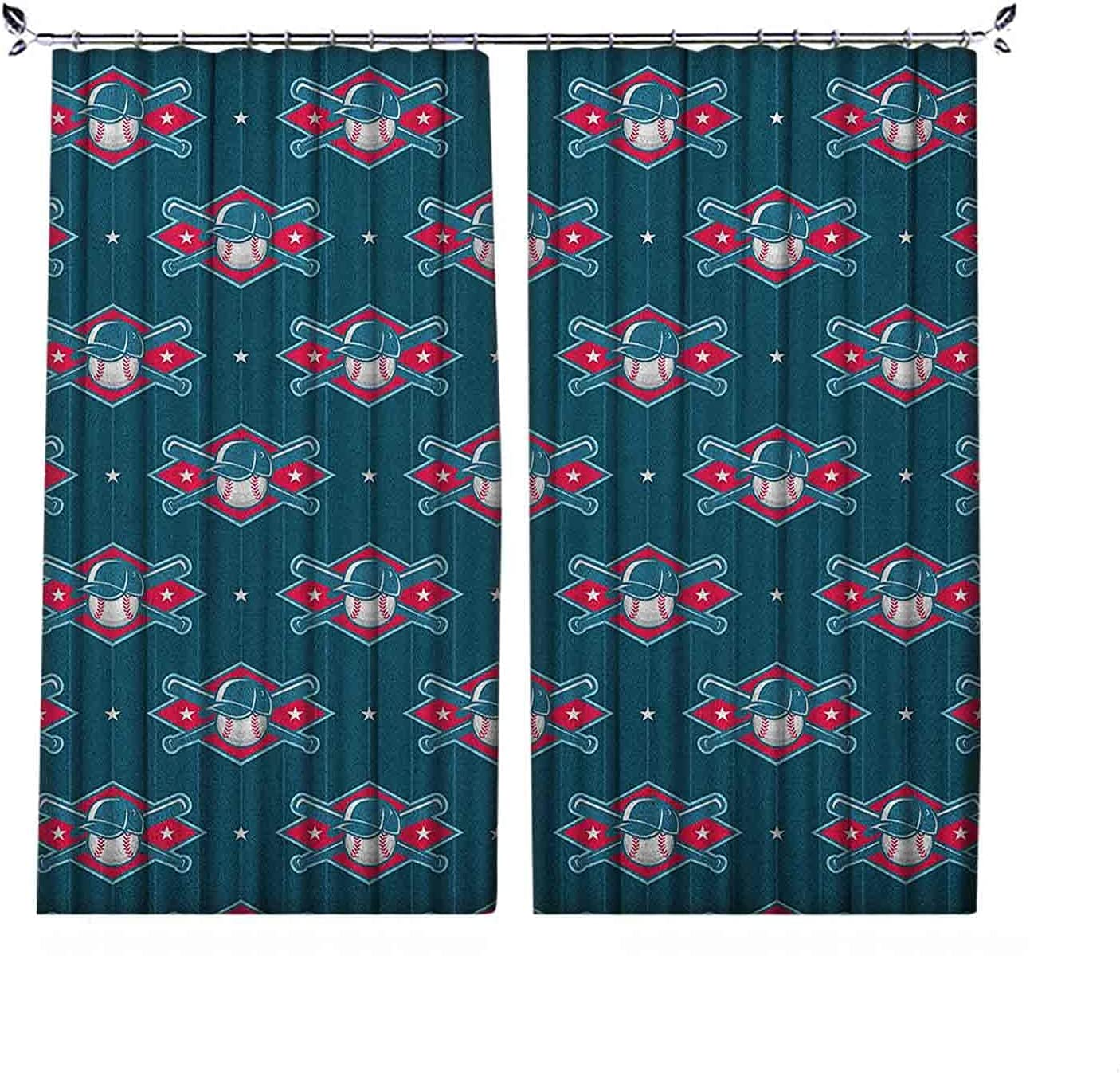 Limited price sale Pleated Heat Insulation Sports Large special price Curtains Modern Baseball