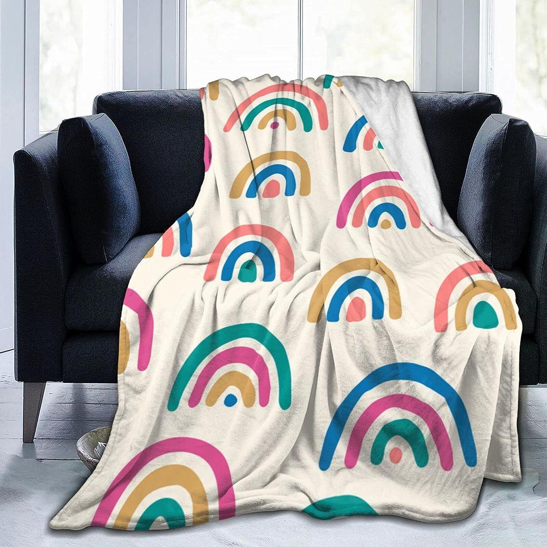 Tawetori Colored Rainbows Memphis Mall Blanket Soft Throw Low price Lightweight
