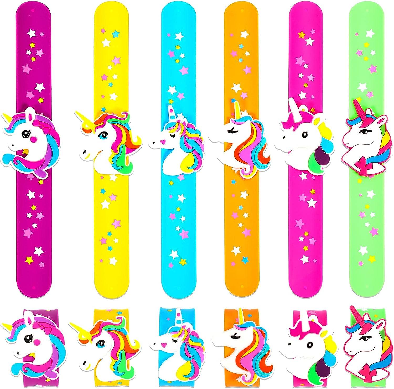 Limited time cheap sale 12 Pieces Unicorn Slap Max 82% OFF Wristband Bracelet S