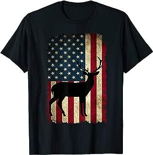 American Flag Deer Hunter Hunting Boyfriend Buckwear Gift T-Shirt