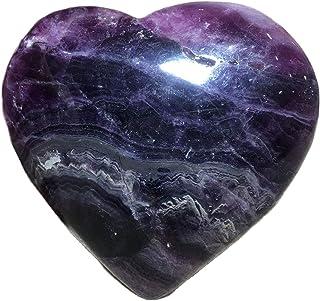 Crystal Natural Fluorite Quartz Crystals Stone Purple Gemtones Gift Reiki Healing Heart Home Furnishing Decoration