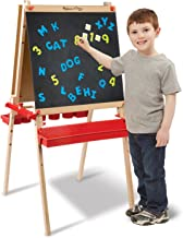 """Melissa & Doug Deluxe Magnetic Standing Art Easel (Arts & Crafts, Sturdy Wooden Construction, 3 Adjustable Heights, Easy-Turn Knobs, 47"""" H x 27"""" W x 26"""" L)"""