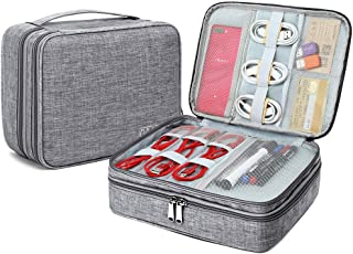 Electronic Organizer Travel Cable Accessories Bag Portable Gadget Storage Cases Waterproof Universal Cord Storage Pouch for Office Home(Gray)