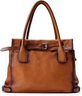 Genuine Leather Shoulder Tote Bag Purse