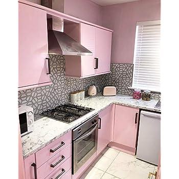 Custom Vinyl Pegatina de Vinilo para forrar Muebles de Cocina o baño (Rosa, 5): Amazon.es: Hogar