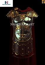 NAUTICALMART Medieval Greek Muscle Armor Muscular Hunting Ancient Roman Cuirass Weave with Belt - Halloween