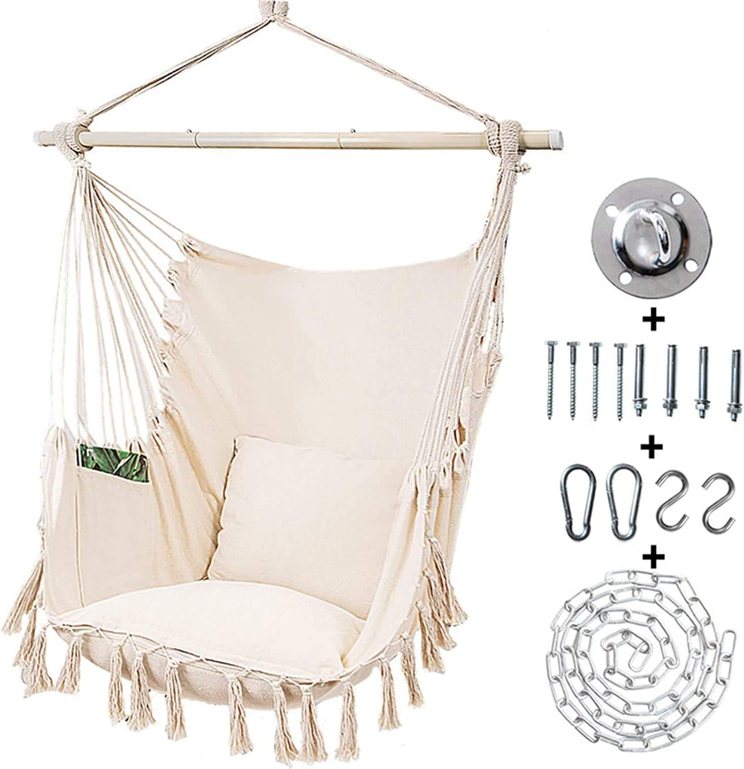 Kanchimi Bargain Hanging Chair-Max 330 Lbs.Large In a popularity Chair Hammock Deta with