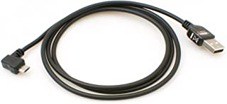 System S Micro USB 2.0 Kabel gewinkelt 90 Grad Winkelstecker (Links/Male) Adapter Datenkabel und Ladekabel 100 cm