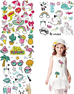 Kids Iron on Patches Appliques Stickers Summer Travel Series Cartoon Heat Transfer Stickers for Clothing, Jeans, Bag, Shoes,T-Shirt with A-Level Washable DIY 4PCS 60+ Patterns
