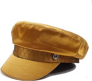 228808d3 Spring Summer Women Hat Flat Top Pink Silk Version Wild Tide Newsboy  Painter British Cap Baker