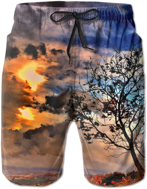 36a8d626fd Tydo Fantasy Fantasy Fantasy Tree Life Painting Men's Beach Shorts Quick  Dry Swim Trunks Surf Board Pants With Pockets For Men 0d9cb8