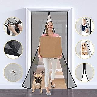 One Sight Magnetic Screen Door, Fiberglass Mesh Door Screens Curtain with Magnets Closure, Heavy Duty Sliding Door Patio Net Screen Fits 39''x82'' Door Keep Bug Fly Mosquito Out