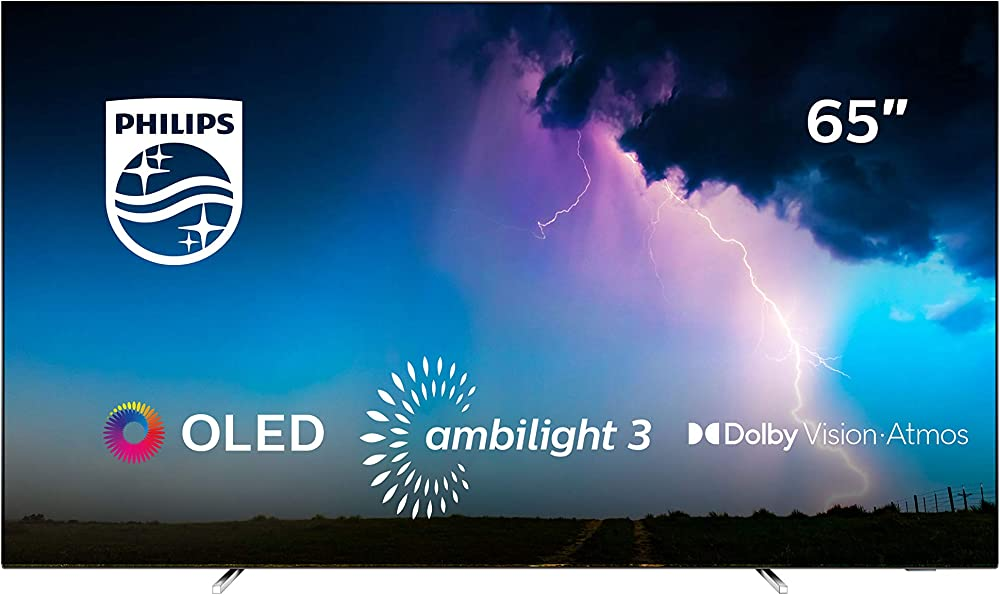 Philips  smart tv 65  pollici oled uhd 4k con tecnologia ambilight su 3 lati 65OLED754/12