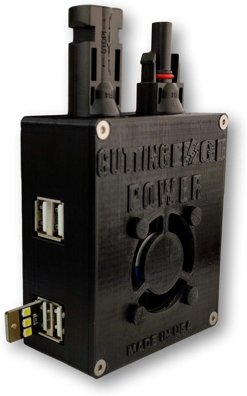 Mount Directly to Solar Panel Cutting Edge Power Solar Panel USB Adapter 2 USB Ports