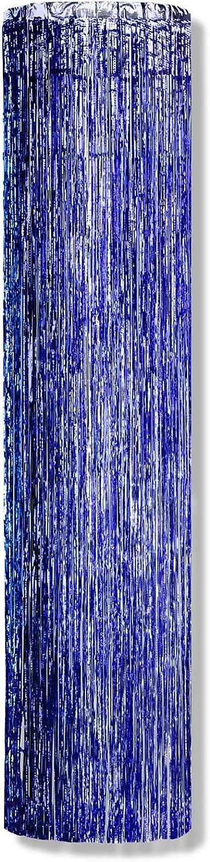 Beistle 50515-B Glam'N Sule, 1-lagig, feuerfest, 2,4 m x 30,5 cm 8' x 12  blau