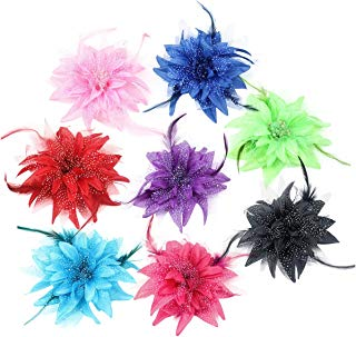Song Qing Women Dance Wedding Party Hair Clip Flower Feather Hairpin Fascinator Brooch Pin Accessory