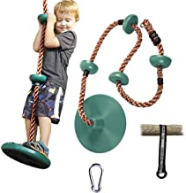 RedSwing Tree Climbing Rope with Platform and Disc Swing Seat, Children Tree Disc Swing..