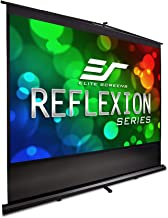Elite Screens Reflexion Series, 100-INCH 4:3, Manual Pull Up Projector Screen, Movie Home Theater 8K / 4K Ultra HD 3D Ready, 2-YEAR WARRANTY, FM100V