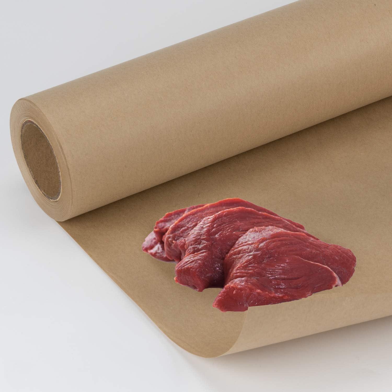 Queso Y Pescado Marr/ón 44,5 cm X 30 m RUSPEPA Rollo De Papel De Congelador Recubierto De Polietileno Para Envolver Carne