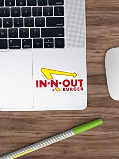 in N Out Logo Sticker Vinyl Decal for Cars, Trucks, Water Bottle, Fridge, Laptops (Longest Side 3