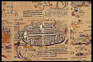 Un Mosaico Que Cubre Parte del Piso de una Iglesia bizantina de Finales del Siglo XVI en Madaba (Hoy en Jordania) Que representa la Tierra Santa y los países circundantes Póster impresión (24 x 36)
