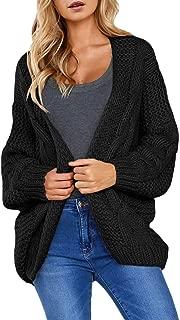 Women Open Front Long Sleeve Chunky Knit Cardigan...
