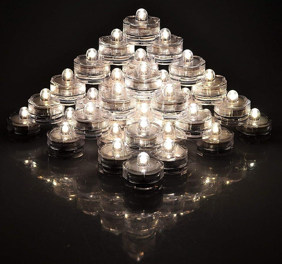 こねる避難丈夫Alilyol ロウソク型水中LEDランプ 48個セット 防水 水中で点灯 水槽 電池駆動 クリスマスパーティ 結婚式 誕生パーティの装飾 暖かい白