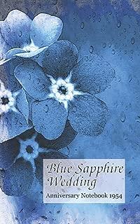 Blue Sapphire Wedding Anniversary Notebook 1954: a great alternative to a card