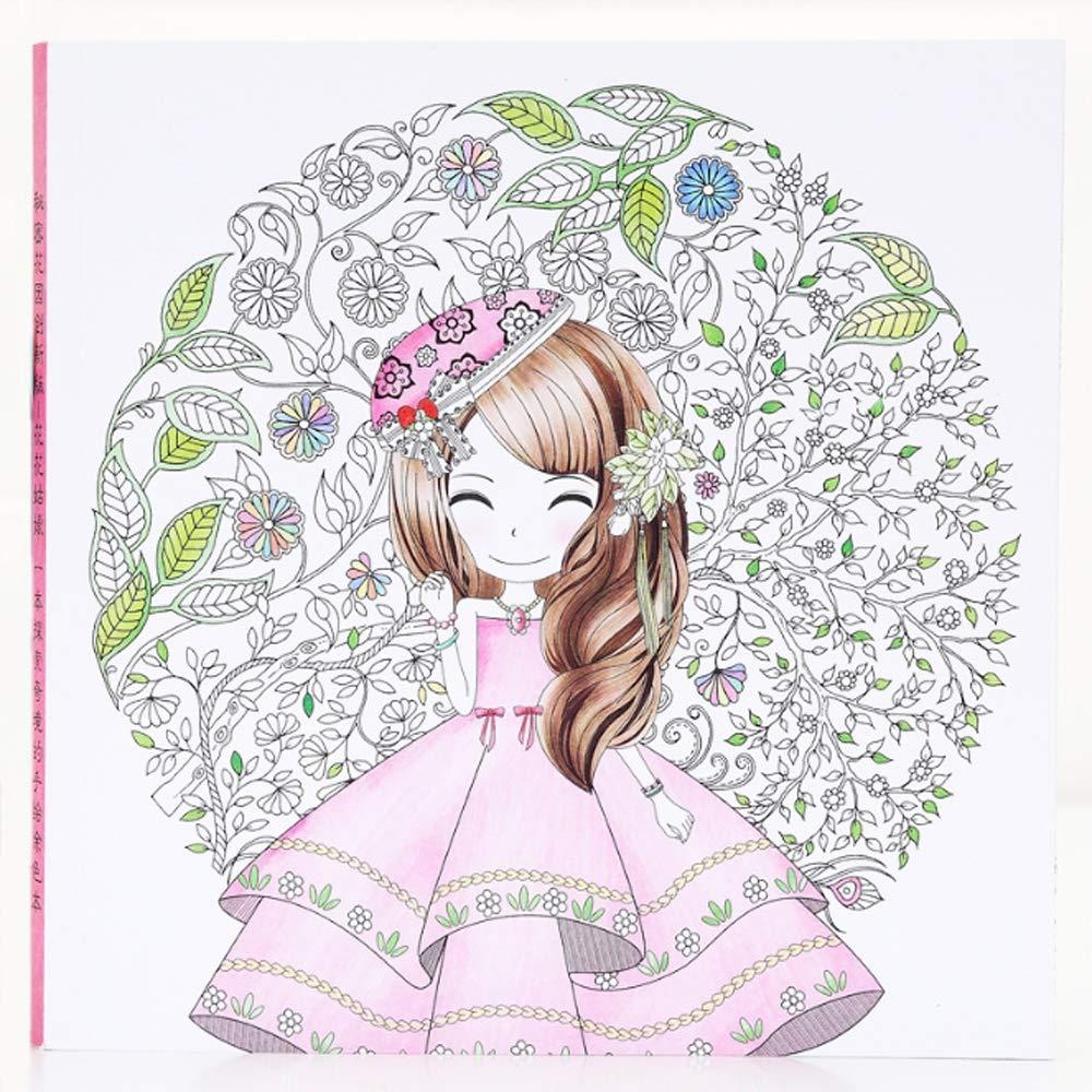 YSZDM Libro para Colorear de niños: jardín Secreto de descompresión para Colorear Libro niña para Colorear Mano Dibujado Graffiti Pintura: Libros para Colorear Libro de Bolsillo de los niños,C: Amazon.es: Hogar