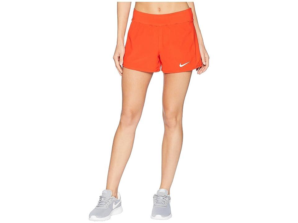 Nike Nike Court Flex Pure Tennis Short (Habanero Red/White) Women