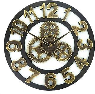 hsj WYQmm Horloge Murale Horloge Murale muette, Horloge en Bois Vintage, Horloge Murale décorative Horloge Murale (Color :...