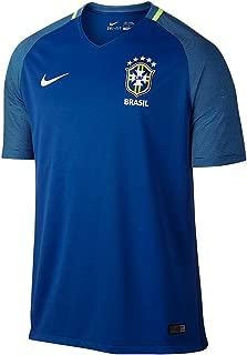 Nike Brasil Men's Away Soccer Stadium Soccer Jersey (Royal/White)- 2016/17