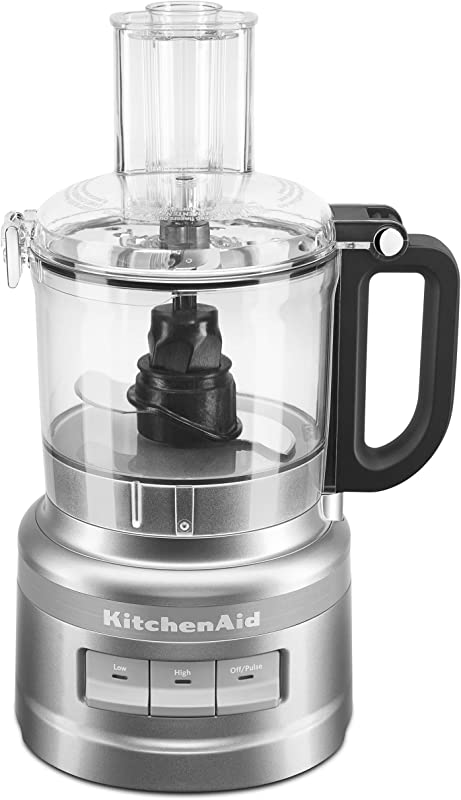 KitchenAid KFP0718CU 7 Cup Food Processor Chop Puree Shred And Slice Contour Silver