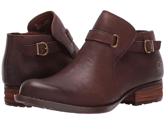 Born  Kristina (Dark Brown Full Grain Leather) Womens Pull-on Boots