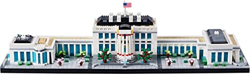 The White House Model Building Kit 3520 PCS,A Great Micro Block Gift for Adults and Kids(with Color Package) 2021 New Big Architecture