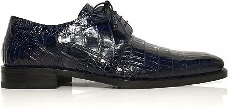 Mezlan Aston Men's Genuine Crocodile Skin Dress Shoes Blue
