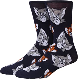 Tom and Jerry Faces Adult Crew Socks