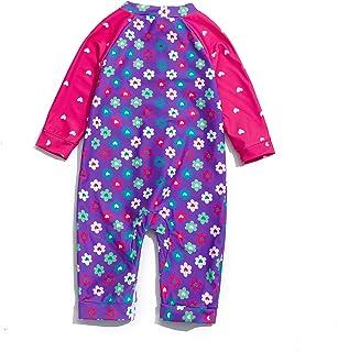 Baby Girl One Piece Swimsuit Full Zip UPF 50+ Sun...