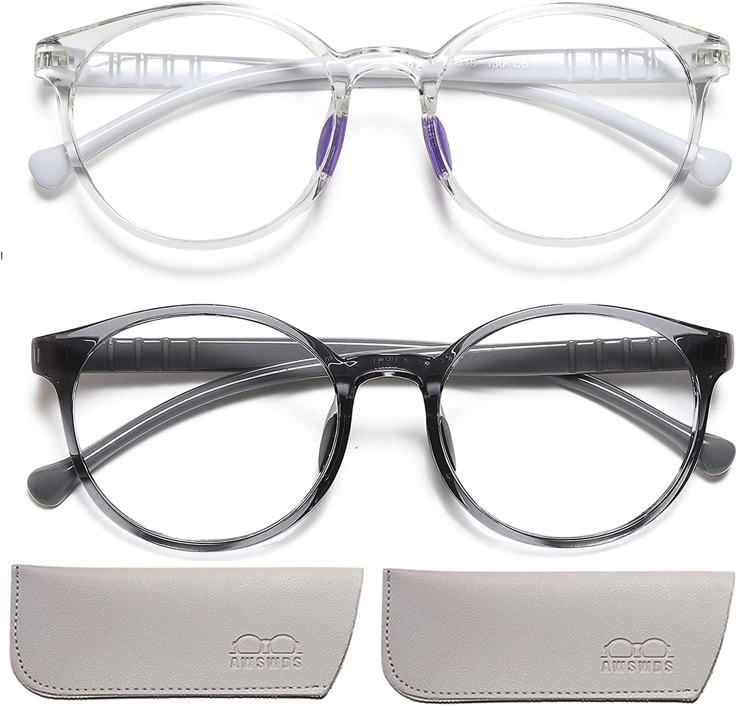 Blue Light Glasses for Ranking integrated 1st place Kids Girls age 4-14 Max 72% OFF Lightweig Boys .Round