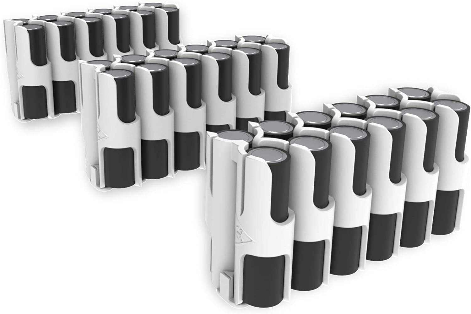 3 Pack East Brooklyn Labs Durable AA Battery Storage Each Caddy Can Hold Up to 12 Batteries Compatible with The Radcad Charger