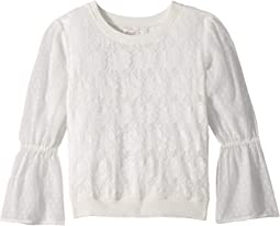 Lace Bell Sleeve Top (Big Kids)