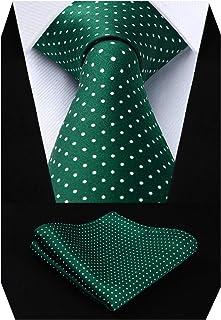 comprar comparacion HISDERN Dot Floral Wedding Tie Panuelo Corbata para hombre y conjunto de bolsillo cuadrado…