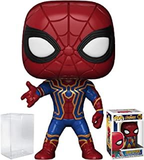 Funko Pop! Marvel: Avengers Infinity War - Iron Spider Vinyl Figure (Bundled with Pop Box Protector Case)
