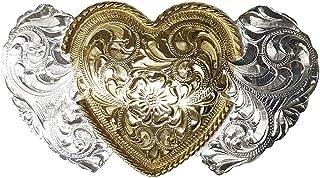 Modestone 12 Pcs Top Selling Combo Pack Metal /& Nickel Silver Western Buckles