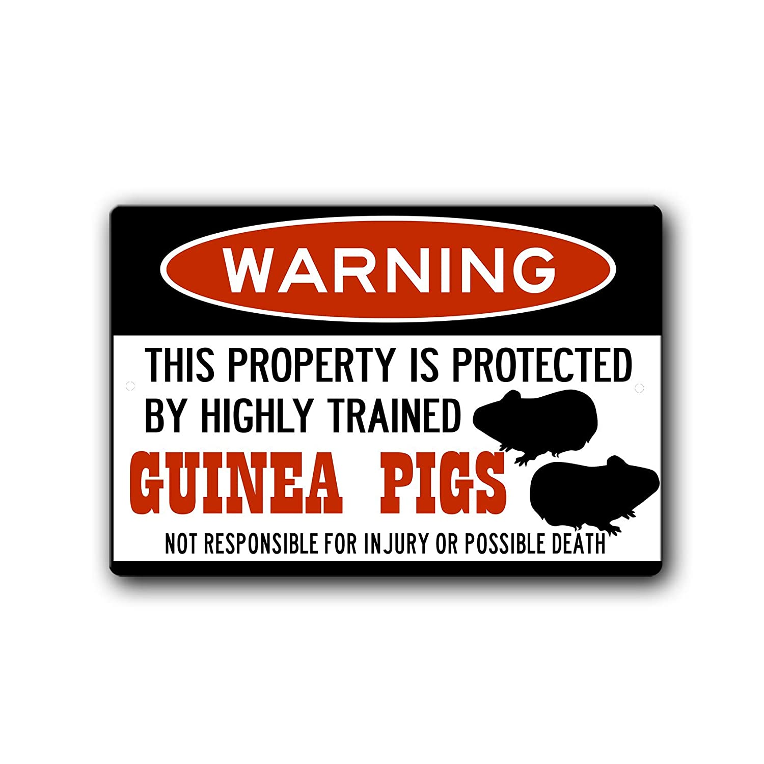 Guinea Pigs Warning Sign cage online shop acces Gift Pig Very popular